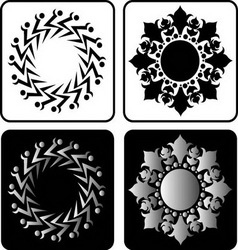 Floral element 4 vector image vector image