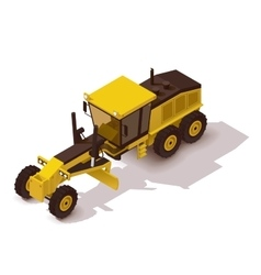 isometric grader vector image vector image