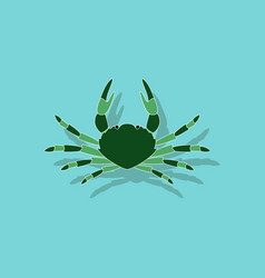 Paper sticker on background of crab vector