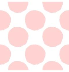 pink dots seamless pattern vector image vector image