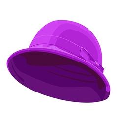 Pink womens hat vector