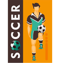 soccer player poster vector image