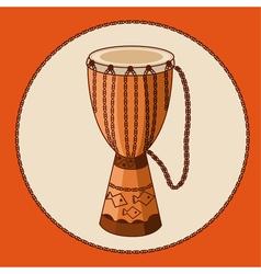 African drum djembe vector