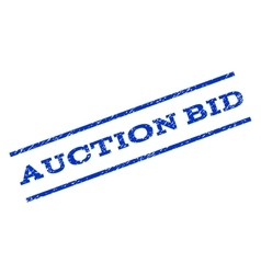 Auction Bid Watermark Stamp vector