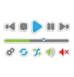 audio video control paper icons vector image