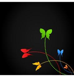 Background of butterflies vector