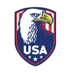 bald eagle badge usa vector image