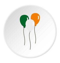 balloons in irish flag colors icon circle vector image
