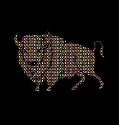 Big buffalo standing graphic vector