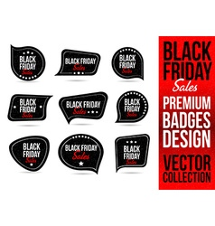 Black Friday Logo Badge and Emblem vector image