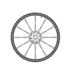 black metallic bicycle wheel vector image