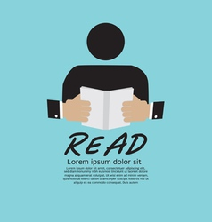 Book Reader vector image