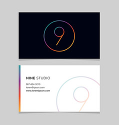 Business-card-number-9 vector