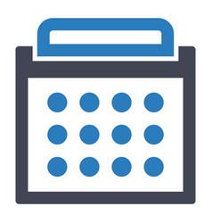 calendar day schedule icon vector image