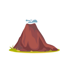 cartoon hot volcano with magma and lava vulcano vector image