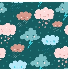 cartoon seamless pattern vector image