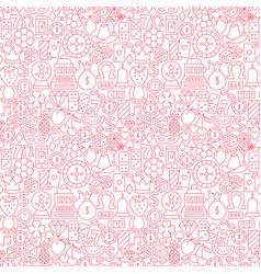 casino night line seamless pattern vector image
