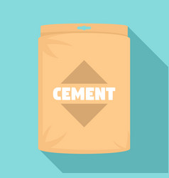 cement bag icon flat style vector image