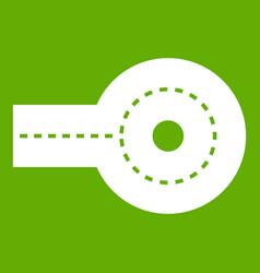 Circular impasse icon green vector