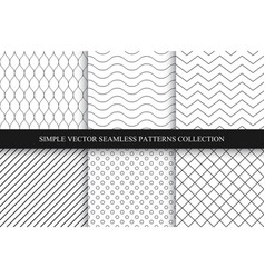 Collection of seamless geometric minimalistic vector