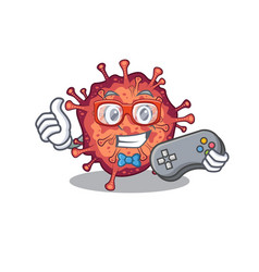 Cool gamer contagious corona virus mascot vector