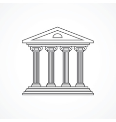 Courthouse icon vector