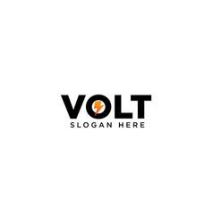 Creative volt logo design vector