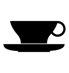 Cup of tea icon simple style vector
