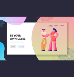 customers outfit order website landing page vector image
