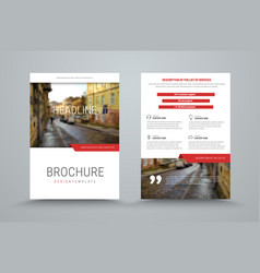 Design of the cover and back side of the business vector