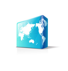 earth in box shapes vector image