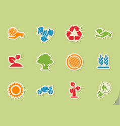 Ecology and recycle icons vector