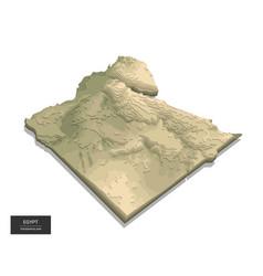 Egypt map - 3d digital high-altitude topographic vector