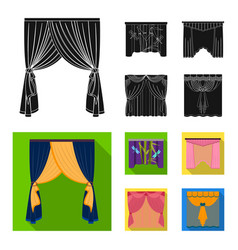 Embroidery textiles furniture and other web icon vector
