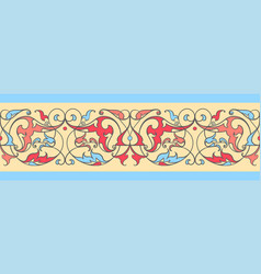 Ethnic ribbon pattern vector