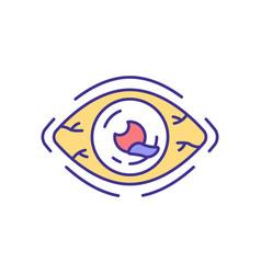 Eye injury rgb color icon vector