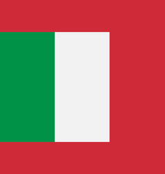 fficial national flag italy solid background vector image
