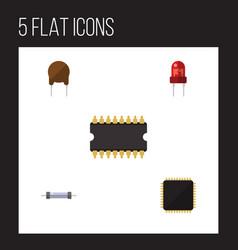 Flat electronics set of recipient triode vector
