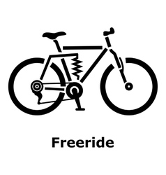 Freeride bike icon simple style vector