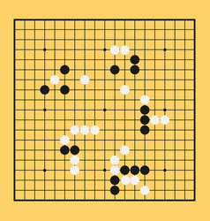 Go game board chinese play china baduk strategy vector