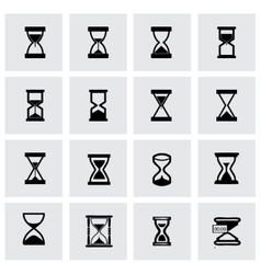 Hourglass icon set vector