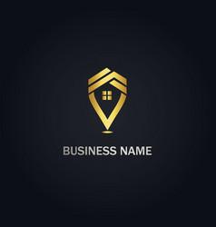 House realty pin company logo vector