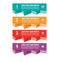 Infographic Business Concept for Presentation vector image
