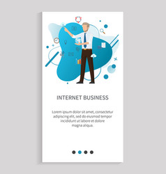internet business online innovation man vector image