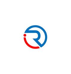 Ir and ri letter logo design vector