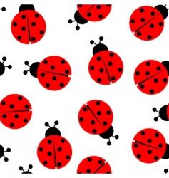 Ladybug seamless vector
