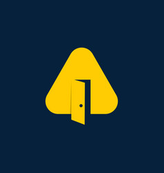 letter a triangle door business logo design vector image