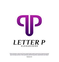letter p logo design concept initial p logo vector image
