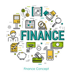 line art concept - finance concept vector image