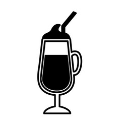 milkshake cup isolated icon vector image